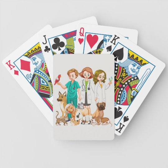 Veterinarian People Background Bicycle Playing Cards