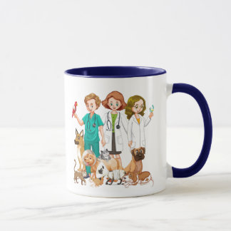 Veterinarian People Background Mug