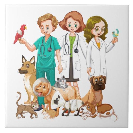 Veterinarian People Background Tile