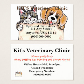 Veterinarian Pets Groomer Shelter Business Card