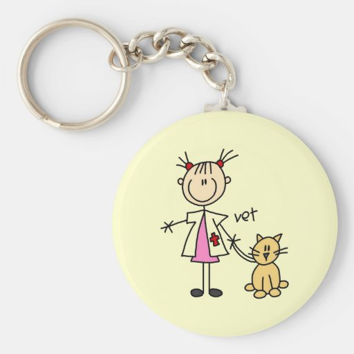 Veterinarian Stick Figure Key Chain