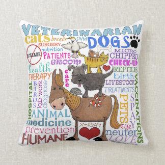 Veterinarian-Subway Art Vet Terms Pillow