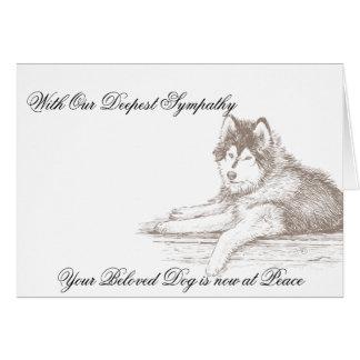 Veterinarian Sympathy Card Husky for Dog Owner