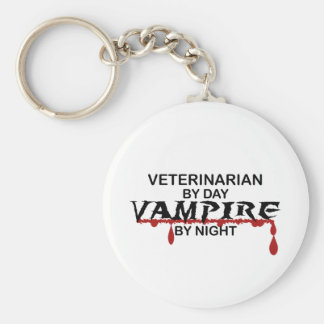 Veterinarian Vampire by Night Basic Round Button Keychain