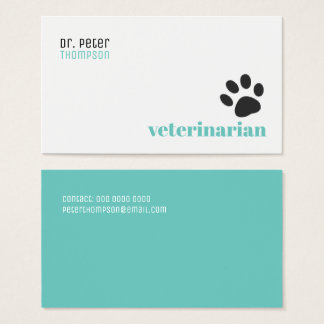 veterinarian veterinary . pets / dog paw business card