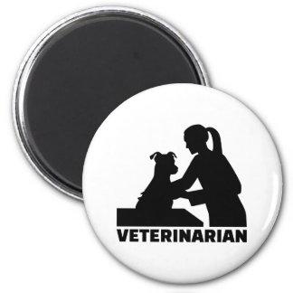 Veterinarian woman 2 inch round magnet