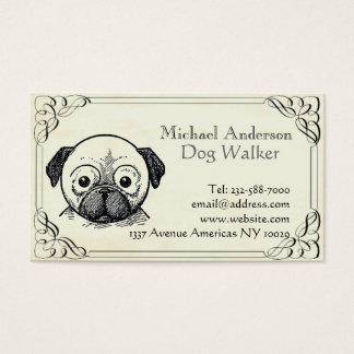 Veterinary and pet sitting business card