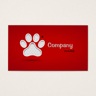 Veterinary First Aid Pets Doctor Private Clinic Business Card