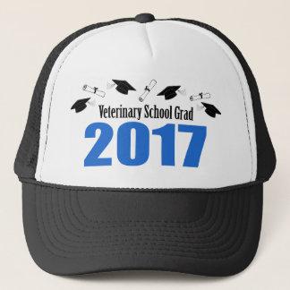 Veterinary Grad 2017 Caps And Diplomas (Blue)