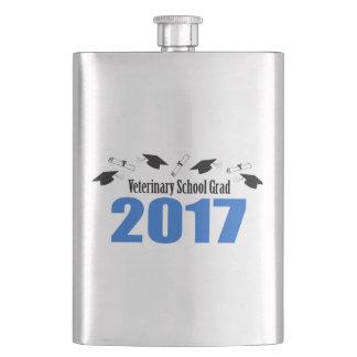 Veterinary Grad 2017 Caps And Diplomas (Blue) Flasks