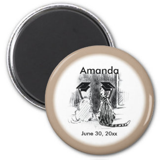 Veterinary Graduation Dog and Cat, Round Gift 2 Inch Round Magnet