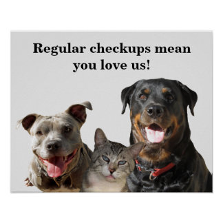 Veterinary Love Your Pets Checkup Poster