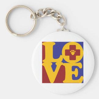 Veterinary Medicine Love Basic Round Button Keychain