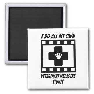 Veterinary Medicine Stunts Square Magnet