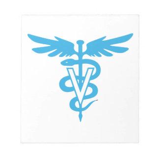 Veterinary medicine symbol notepad