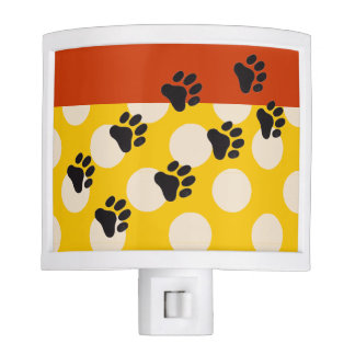 Veterinary Night Light Polka Dots Yellow