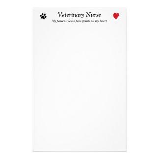 Veterinary Nurse - Paw Prints on My Heart #2 Stationery Design