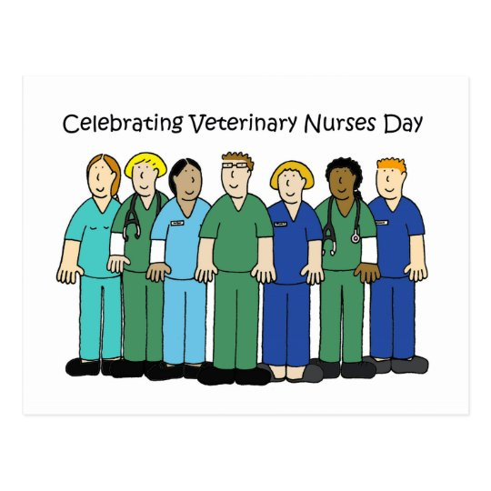 Veterinary Nurses Day. Postcard