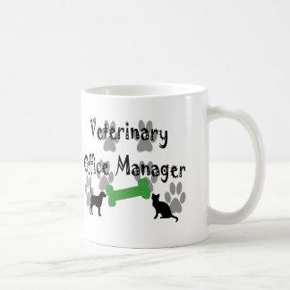 Veterinary  Office Manager Basic White Mug