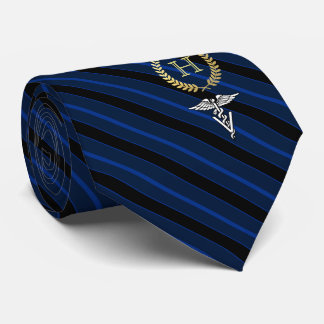 Veterinary Professional Framed Monogram Blue Tie