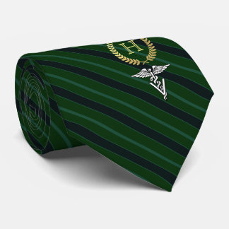 Veterinary Professional Framed Monogram Green Tie