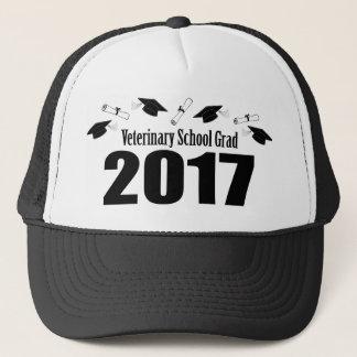 Veterinary School Grad 2017 Caps & Diplomas (Black