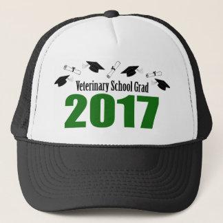 Veterinary School Grad 2017 Caps & Diplomas (Green