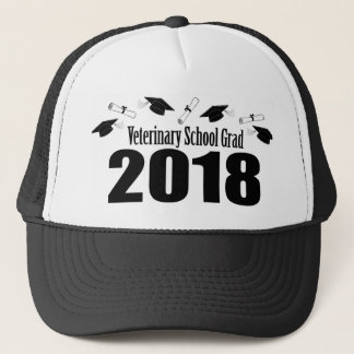 Veterinary School Grad 2018 Caps & Diplomas (Black