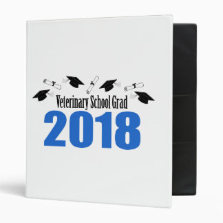 Veterinary School Grad 2018 Caps & Diplomas (Blue) 3 Ring Binder