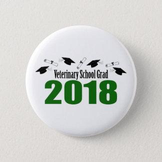 Veterinary School Grad 2018 Caps & Diplomas (Green 2 Inch Round Button