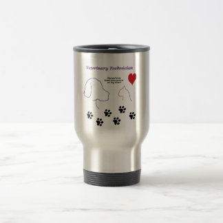 Veterinary Technician - Paw Prints on My Heart Stainless Steel Travel Mug