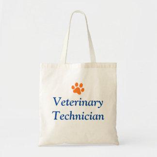 Veterinary Technician with Orange Paw Print Tote Bag