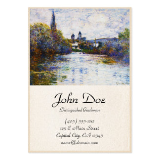 Vetheuil, The Small Arm of the Seine,  Claude Mone Large Business Card