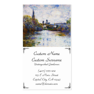 Vetheuil, The Small Arm of the Seine Claude Monet Business Card