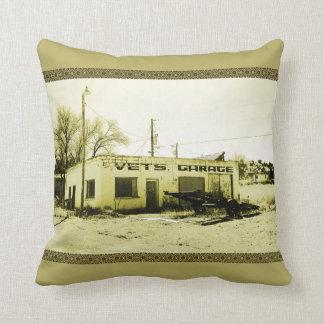 Vet's Garage Throw Pillow