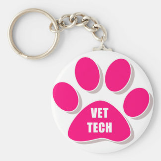 vettech paw keychain pink