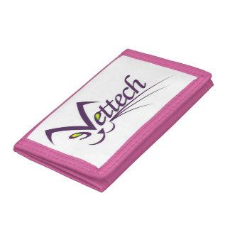 Vettech pink trifold wallet