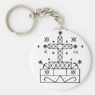 veve for baron samedi basic round button keychain
