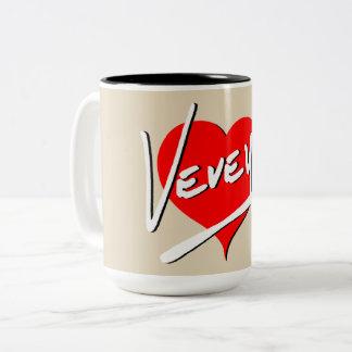 Vevey Heart Logo by Baronsky Two-Tone Coffee Mug