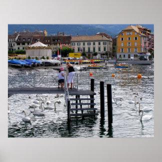 Vevey Lake Geneva Poster