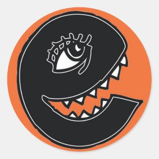 Vex e - Orange Classic Round Sticker