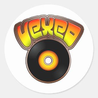 Vexed Round Stickers
