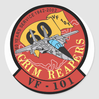 VF-101 Grim Reapers Round Sticker