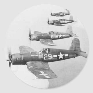 VF-17 F4U4 CORSAIRS ROUND STICKER
