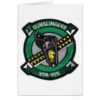 vfa-105 squadron patch greeting card