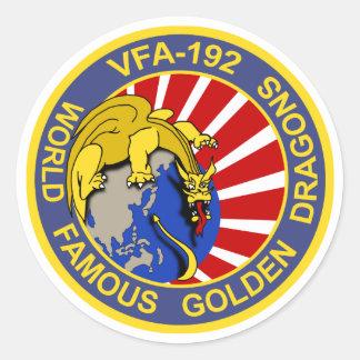 VFA-192 Golden Dragons Classic Round Sticker