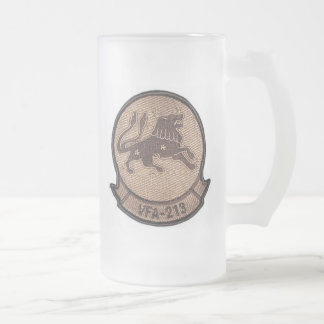 vfa 213 desert squadron patch 16 oz frosted glass beer mug