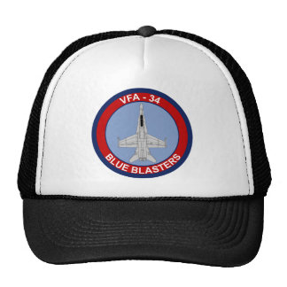 VFA - 34 Fighter Squadron - Blue Blasters Hats