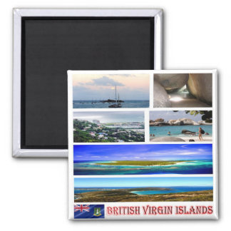 VG - British Virgin Islands - Mosaic - Collage Magnet