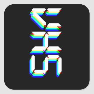 VHS SQUARE STICKER
